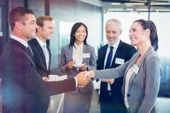 Предприниматели имея обсуждение во время периода отдыха Стоковое Изображение RF