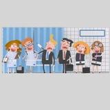 Предприниматели на клинике для медицинского обзора иллюстрация штока