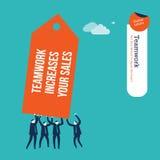 Предприниматели нося бирку совместно Стоковые Фотографии RF