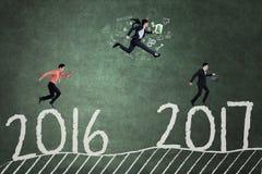 Предприниматели состязаются для достижения 2017 Стоковое Изображение RF