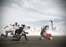Предприниматели состязаясь Стоковые Изображения RF