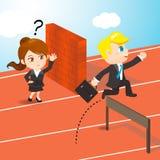 Предприниматели состязаясь иллюстрация вектора
