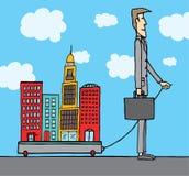Предприниматель/мэр города политикана иллюстрация вектора