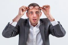 Предприниматель находя отличная идея или перспектива к делу Стоковые Фотографии RF