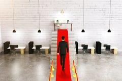 Предприниматель на красном ковре Стоковые Фото