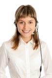 представитель центра телефонного обслуживания Стоковое фото RF