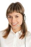 представитель центра телефонного обслуживания Стоковое Изображение