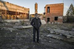 Представитель русской мафии, молодой бандит Стоковое фото RF