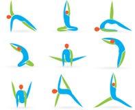 Представления йоги Стоковые Фотографии RF