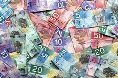 представляет счет канадский доллар Стоковое Изображение RF