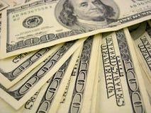 представляет счет доллар 100 Стоковые Изображения RF
