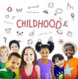 Представьте концепцию значка образования свободы детей стоковая фотография