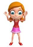 Представьте маленькой девочки с смешным представлением Стоковые Изображения RF