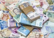 представьте счет портрет сербская slobodan тысяча динаров 5 динара jovanovic Стоковое Изображение RF