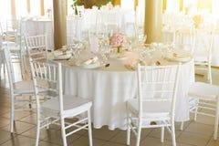 представьте установленное венчание таблицы Стоковые Фото
