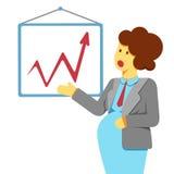 Представление беременной женщины Стоковые Изображения