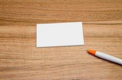Представление визитной карточки для продвижения Стоковая Фотография