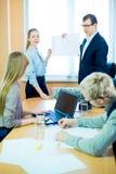 Представление выставки бизнес-леди и бизнесмена Стоковые Фотографии RF