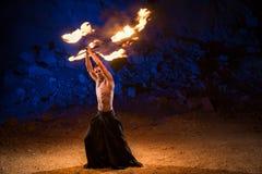 Представление выставки огня стоковая фотография