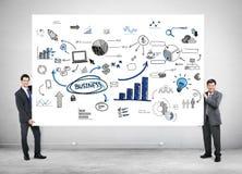 Представление глобального бизнеса с бизнесменом Стоковые Изображения RF