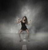 Представление девушки мощное стоковое изображение rf