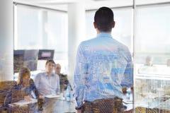 Представление дела на корпоративной встрече Стоковое Изображение RF