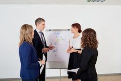 Представление дела для команды бизнесменов Обсуждение, Стоковое Изображение