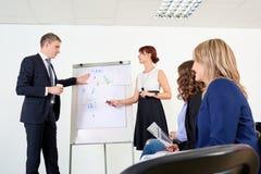 Представление дела для команды бизнесменов Обсуждение, Стоковые Фото