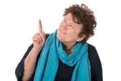 Представление: Изолированная красивая женщина oder представляя боковой w стоковое изображение