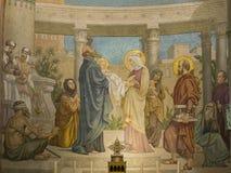 Представление Иисуса в виске Стоковые Изображения