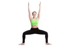 Представление йоги борца Sumo Стоковые Изображения RF
