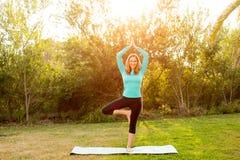 Представление йоги женщины Стоковые Фотографии RF