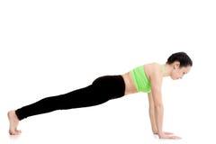 Представление йоги планки Стоковое Изображение