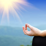 Представление йоги Стоковое фото RF