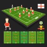 Представление команды кубка мира футбола Стоковое Изображение RF
