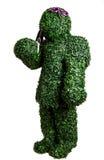 Представление куста девушки при малый лопаткоулавливатель сада изолированный на белой предпосылке Фото студии Стоковые Фото
