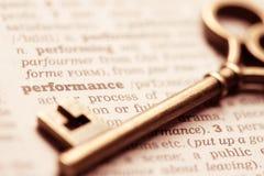 Представление ключевого понятия успеха в бизнесе Стоковое Изображение RF