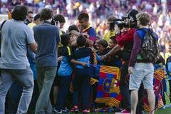 Представление младшего Neymar официальное как игрок FC Barcelona Стоковое Изображение