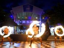 Представление огня в Фиджи Стоковая Фотография