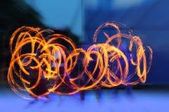 Представление огня Стоковые Изображения