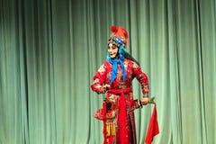 Представление оперы Пекина Стоковое Изображение