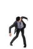 Представление схватки азиатского бизнесмена стоковое изображение