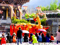 Представление танца дракона Стоковые Изображения