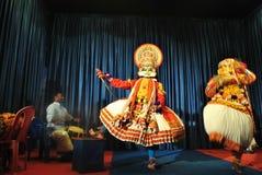 Представление танца Kathakali Стоковые Изображения