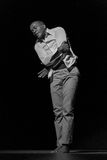 Представление театра танца Кабо-Верде «Raiz Di Polon» черная белизна Стоковое Фото