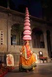 Представление Bhavai - известный народный танец Раджастхана Стоковое фото RF