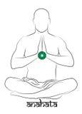 Представление chakra Anahata Стоковое Изображение RF