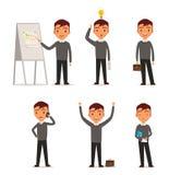 представления бизнесмена различные Иллюстрация штока