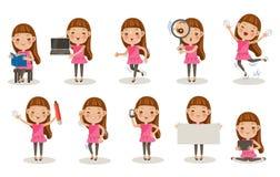 Представления девушек Стоковые Фотографии RF