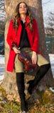 Представления девушки с скрипкой Стоковые Фотографии RF